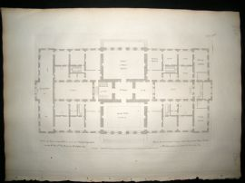 Vitruvius Britannicus C1720 Architectural Plan. New design for the Earl of Halifax